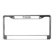 Tyson (Boy) License Plate Frame