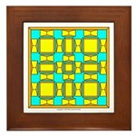 Dutch Gold And Yellow Design Framed Tile