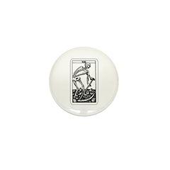 Vintage Death Tarot Card Mini Button (10 pack)
