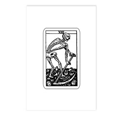 Vintage Death Tarot Card Postcards (Package of 8)