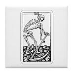 Vintage Death Tarot Card Tile Coaster