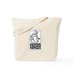 Vintage Death Tarot Card Tote Bag