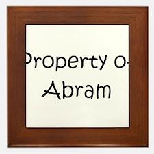 Cute Abram Framed Tile
