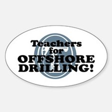 Teachers For Offshore Drilling Oval Decal