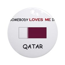Somebody Loves Me In QATAR Ornament (Round)