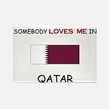 Somebody Loves Me In QATAR Rectangle Magnet