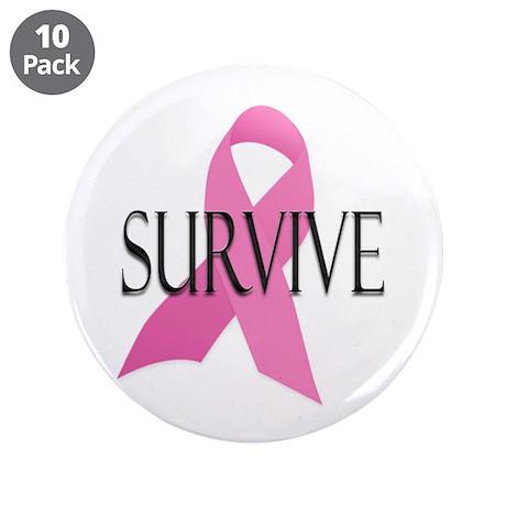 """Survive 3.5"""" Button (10 pack)"""