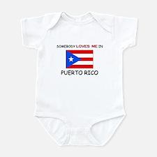 Somebody Loves Me In PUERTO RICO Infant Bodysuit