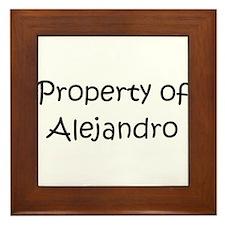 Unique Alejandro Framed Tile