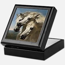 White Arabian Horses. Keepsake Box