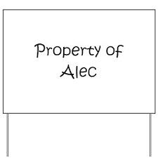 Funny Alec Yard Sign