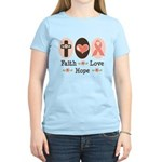 Faith Love Hope Pink Ribbon Women's Light T-Shirt