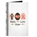 Faith Love Hope Pink Ribbon Journal