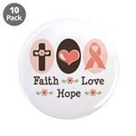 Faith Love Hope Pink Ribbon 3.5