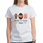 Faith Love Hope Pink Ribbon Women's T-Shirt