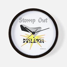 DYSLEXIA AWARENESS Wall Clock