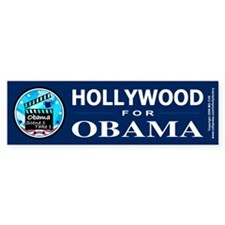 HOLLYWOOD FOR OBAMA Bumper Stickers