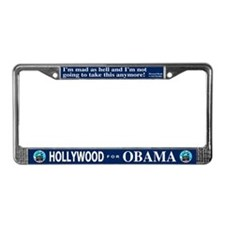 HOLLYWOOD FOR OBAMA License Plate Frame