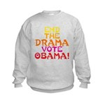 End the Drama Vote Obama Kids Sweatshirt