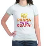 End the Drama Vote Obama Jr. Ringer T-Shirt