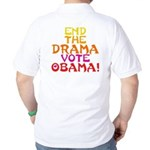 End the Drama Vote Obama Golf Shirt