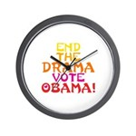 End the Drama Vote Obama Wall Clock