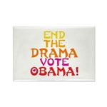 End the Drama Vote Obama Rectangle Magnet (100 pac