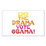 End the Drama Vote Obama Rectangle Sticker 10 pk)