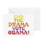 End the Drama Vote Obama Greeting Card