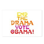 End the Drama Vote Obama Postcards (Package of 8)