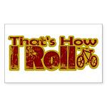 Retro That's How I Roll Bike Rectangle Sticker 10