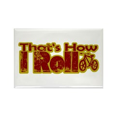 Retro That's How I Roll Bike Rectangle Magnet
