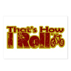 Retro That's How I Roll Bike Postcards (Package of