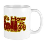 Retro That's How I Roll Bike Mug