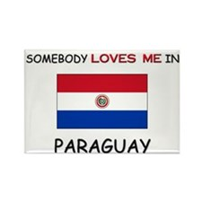 Somebody Loves Me In PARAGUAY Rectangle Magnet
