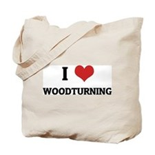 I Love Woodturning Tote Bag
