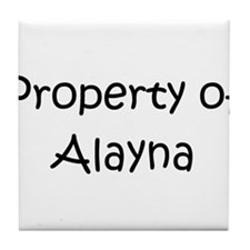 Cute Alayna Tile Coaster