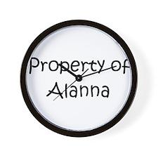Cute Alanna Wall Clock