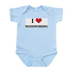 I Love Woodworking Infant Creeper