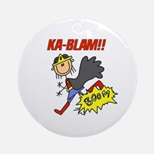 Ka Blam Girl Hero Ornament (Round)