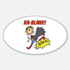 Ka Blam Girl Hero Oval Decal
