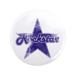 "Super Distressed Rockstar 3.5"" Button"