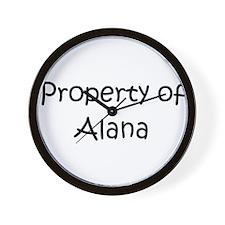 Funny Alana Wall Clock