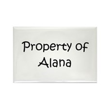 Funny Alana Rectangle Magnet