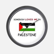 Somebody Loves Me In PALESTINE Wall Clock