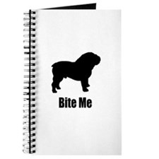 Bite Me Bulldog Black Journal