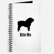 Bite Me Bulldog Black Journal