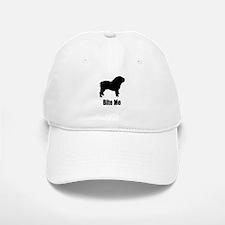 Bite Me Bulldog Black Baseball Baseball Cap