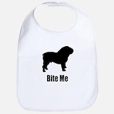 Bite Me Bulldog Black Bib