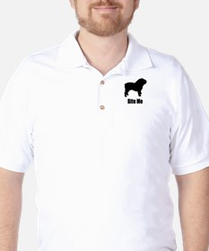 Bite Me Bulldog Black Golf Shirt
